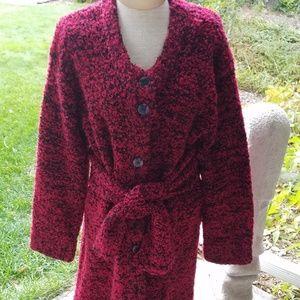 vintage wool sweater coat